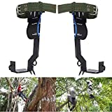 JahyShow 2 Pack Gears Tree Pole Climbing Spike Set Safety Adjustable Lanyard Rope Rescue Belt