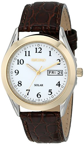 Seiko Men's SNE056 Stainless Steel Solar...
