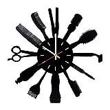 Barber Shop Man Vinyl Record Wall Clock - Home Room Or Bathroom Wall Decor - Gift Ideas for Parents, Friends – Beautiful Unique Art Design