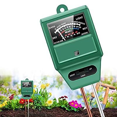 Amazon - 50% Off on  Soil pH Meter Soil Test Kits,3-in-1 Soil Moisture/Light/pH Gardening Digital Soil Moisture Meter