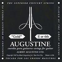 【国内正規品】バラ弦 AUGUSTINE オーガスティン クラシックギター弦 GOLD 6弦(E)