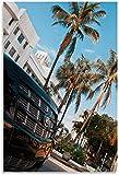 REGF Cuadro En Lienzo60x90cm Sin Marco Pintura Decorativa del Dormitorio del Cartel de la Sala de Estar de la Tira de Miami