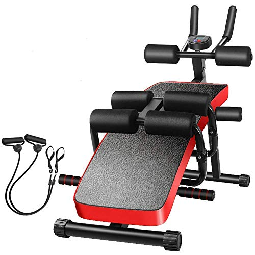 WXHHH Faltbare Bauchtrainer Adjustable-Fitness Crunches Maschine Supine Brett Back & Bauchtrainer