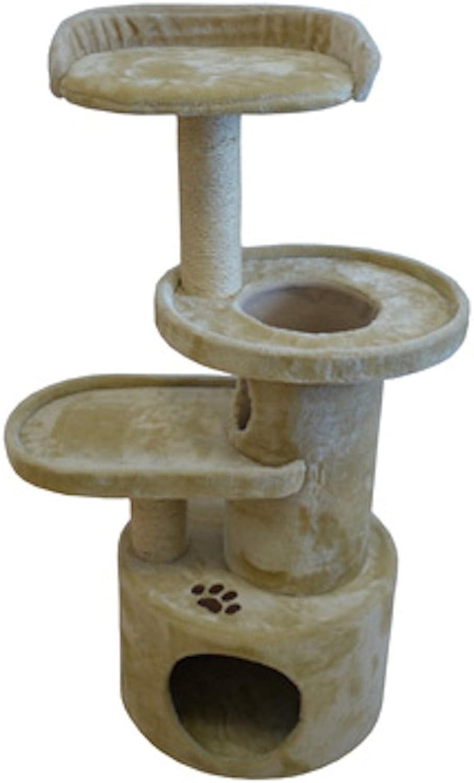 Iconic Pet Dual Post Cat Tree Condo Tower  Beige