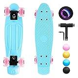 shownicer Skateboard Kinder Komplettboard Mini Cruiser Skate...