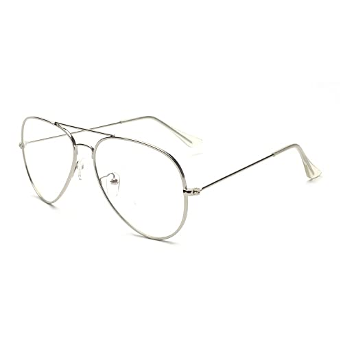 c7e7b5d632 ALWAYSUV Metal Frame Clear Lens Classic Glasses Eyeglasses