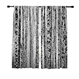 Misscc Blackout Curtains Winter Trunks Birch Trees Black and White Pattern Window Curtains,Window Treatments Draperies for Bedroom Living Room Kitchen Cafe 2 Panels Set