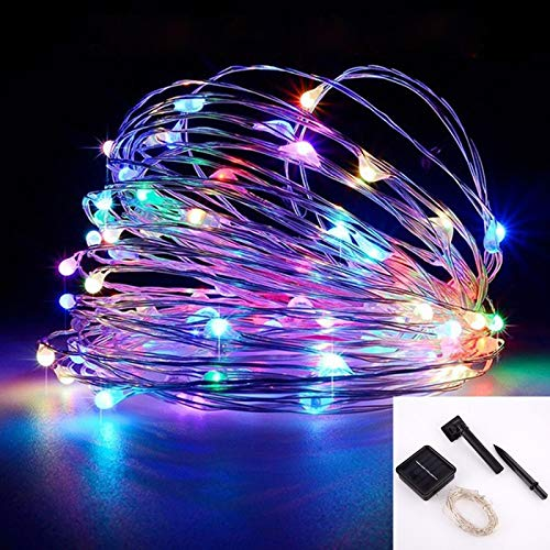 yuge Led Outdoor Solar Lamp String Lights 100/200 Leds Fairy Holiday Christmas Party Garland Solar Garden Waterproof 10m 20m Decor TaiyangnengColorful