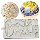 Case Cover 3D Seepferd Shell Starfish-Form-silikon-Form Für Schokoladen-Fondant-Kuchen-Kuchen-süßigkeit Fimoton Moulds
