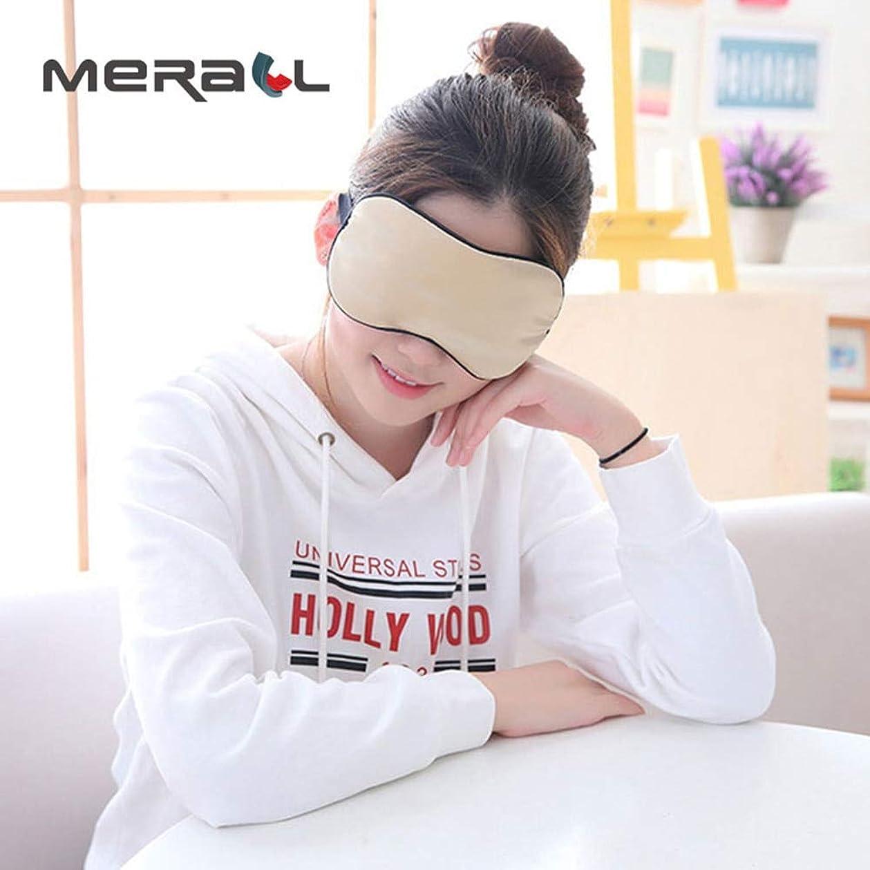 NOTE 通気性睡眠アイマスク調節可能な両面模造本物のシルクコットンライトシェードブラック目隠し睡眠ケアエイドツール1ピース