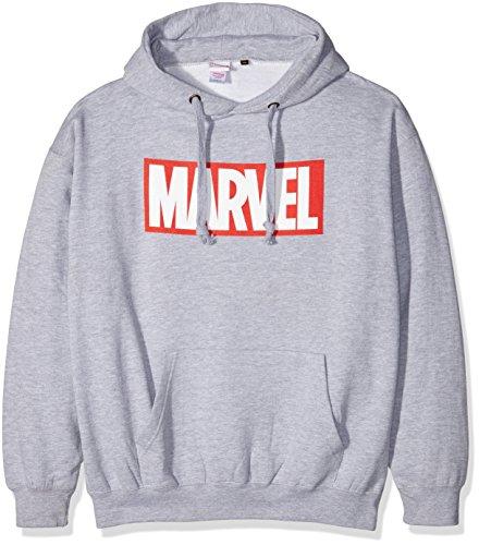 Marvel Comics Core Logo P/O Hood Capucha, Gris (Sport Grey), X-Large para Hombre
