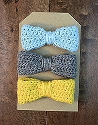 handmade hair clips for babies - classic bow