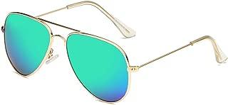 SOOLALA Children's UV400 Protection Anti-reflective Aviator Polarized Sunglasses
