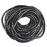 OFNMY Mangas ordenadas del cable - Organizador ordenado en espiral del cable de la banda de envoltura de 12 metros, Mangas ordenadas del cable duradero para TV / PC / Computadora / Hogar