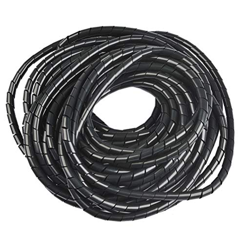 OFNMY Kabelschlauch Spiralband Spiralschlauch 8mm Außendurchmesser, 12 Meter zum Bündeln von Kabeln bei PC, TV, HIFI-Anlage
