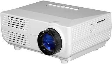 WXX Lin VS311 Mini Projector 150 Lumens LED 480x320 SVGA Multimedia Video Projector, Support HDMI/SD/USB/VGA/AV, Projecting Distance: 1-5m(Black) (Color : White)