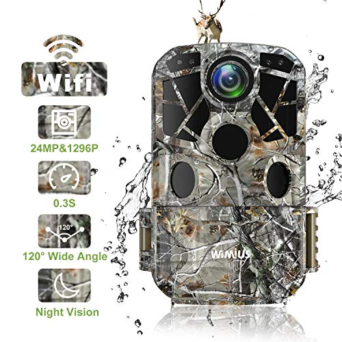 WiMiUS H8 WiFi Wildlife Camera 24MP 1296P Trail Camera ,0.3S Trigger...