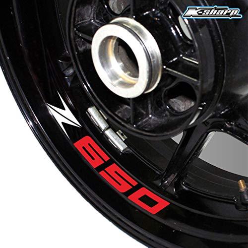 psler Motorrad Reifen Reflektierende Aufkleber Felgenaufkleber für Kawasaki Z650