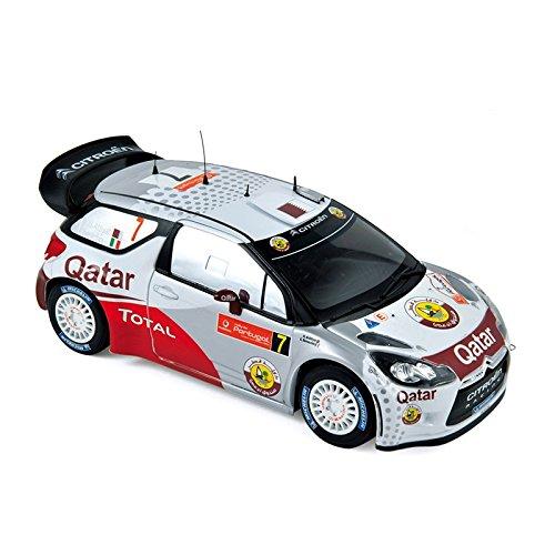 Norev–181558–Fahrzeug Miniatur–Modell Maßstab–CITROËN DS3WRC–Rallye Portugal 2012–Maßstab 1/18