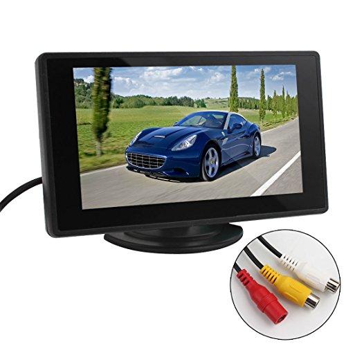 Auto-Parken-Unterstützung-Monitor - BW 4.3 Zoll TFT LCD Auto-Monitor-Auto-Rückblick-Monitor mit LED-Hintergrundbeleuchtung-Anzeige für Träger-Unterstützungskameras