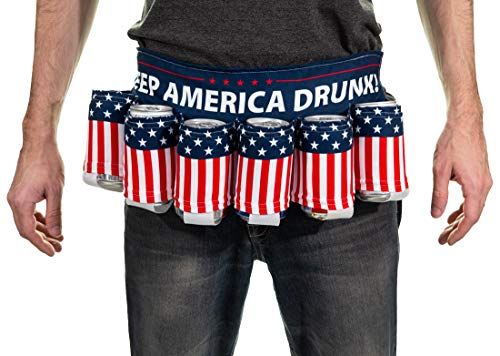 Novelty Beverage Holder Beer Belt (Keep America Drunk)