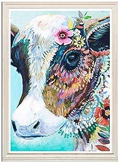5D DIY مجموعة الرسم الماس كامل الماس لطيف الحيوان البقرة اللوحة الصليب غرزة الماس ملصقات الحائط ديكور المنزل 30x40 سم