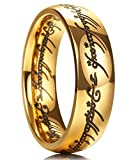 King Will Magic 7mm Titanium Ring Gold Plated Rings Comfort Fit Wedding Band for Men Women 5