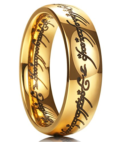 King Will Magic 7mm Titanium Ring Gold Plated Rings Comfort Fit Wedding Band for Men Women 10.5
