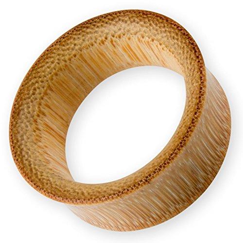 Fly Style - 1 Stück - Schlichter Flesh Tunnel aus Bambus - von 4 bis 50 mm, Grösse:6 mm