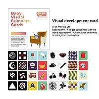 POIJ 幼児のための黒白いフラッシュカード、新生児0-36か月の赤ん坊のおもちゃの色の訓練に続く早期教育の赤ん坊の視覚刺激