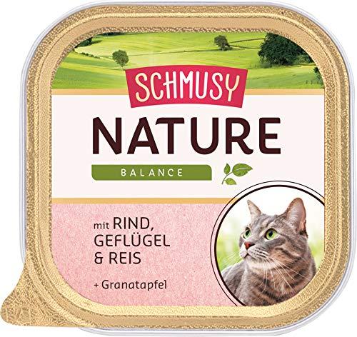 Schmusy Katzenfutter Nature Balance Rind+Geflügel 100 g, 16er Pack (16 x 100 g)