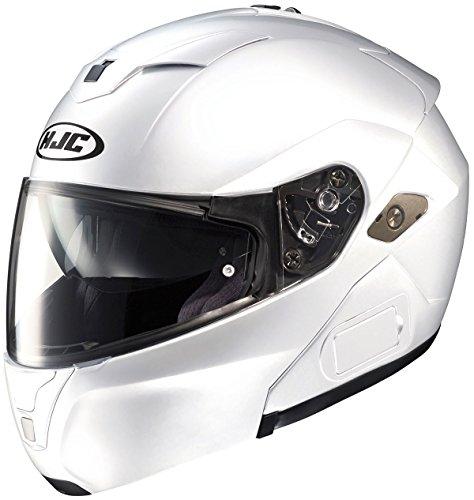 HJC SY-MAXBT III Bluetooth Modular Motorcycle Helmet (White, X-Large)