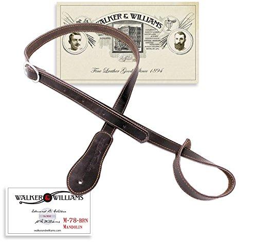 Walker & Williams M-78 Soft Leather Adjustable Mandolin, Mandola, Bouzouki Strap