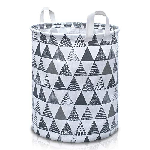 DIJU Wäschekorb faltbar - Laundry Basket - Wäschepuff - Wäschekorb Kinder - Aufbewahrungskorb Kinder - Wäschesammler - Wäschekorb rund
