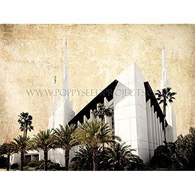 LDS (Mormon) Temple Print (Print Only - 18 x 24, Las Vegas)