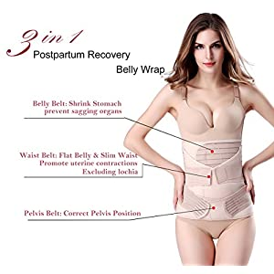 ChongErfei Postpartum Support Recovery Belly Wrap Waist/Pelvis Belt Body Shaper Postnatal Shapewear