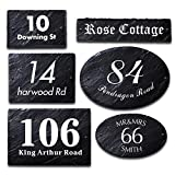 Rustic Slate House Gate Sign Plaque Door Number Personalised Name UV Printed Hand Finished in UK