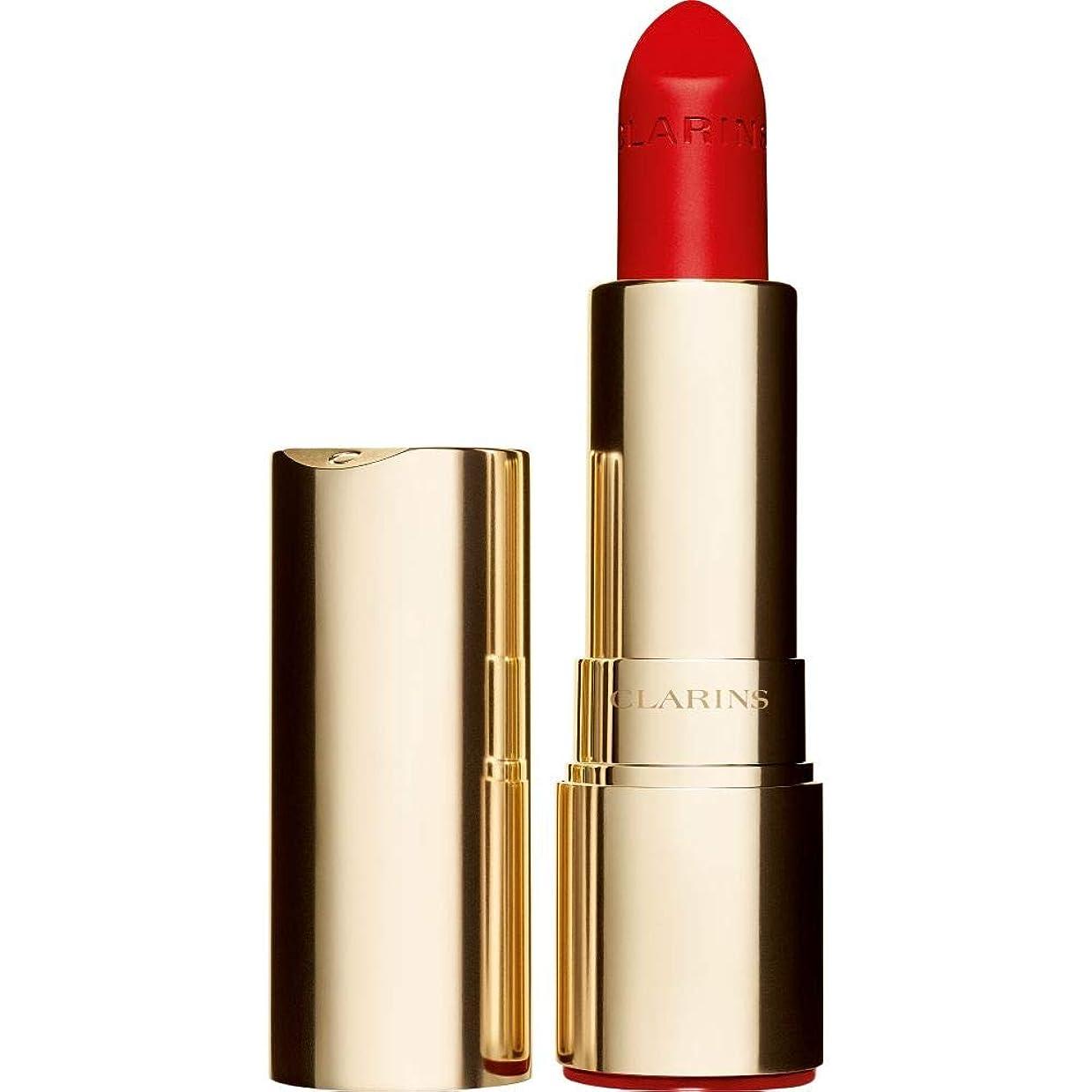 に対応忠実に幻想的[Clarins ] クラランスジョリルージュのベルベットの口紅3.5グラムの741V - 赤、オレンジ - Clarins Joli Rouge Velvet Lipstick 3.5g 741V - Red Orange [並行輸入品]