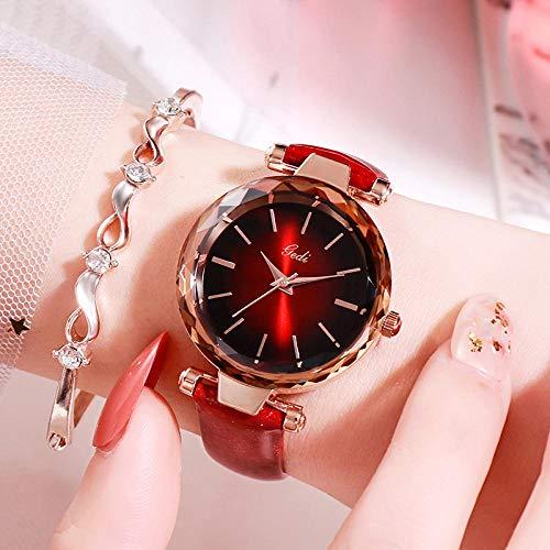 Powzz - Reloj de pulsera para mujer con correa