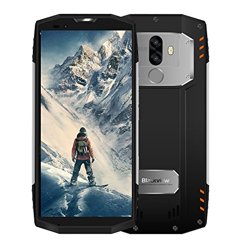 【2019】Blackview BV9000 Pro Outdoor Rugged Smartphone IP68 4G, 6GB+128GB, 13MP+8MP, 5.7' FHD+ IPS Antiurto Dual SIM Cellulare da Lavoro Resistenti 4180mAh, GPS/NFC/Hotspot/Face ID-Argento [Italia]