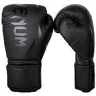Venum Unisex-Youth Challenger 2.0 Kids Boxing Gloves, Black/Black, 6-ounce