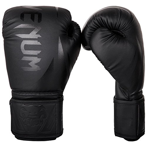 Venum Unisex-Youth Challenger 2.0 Kids Boxhandschuhe, Schwarz/schwarz, 8-Ounce