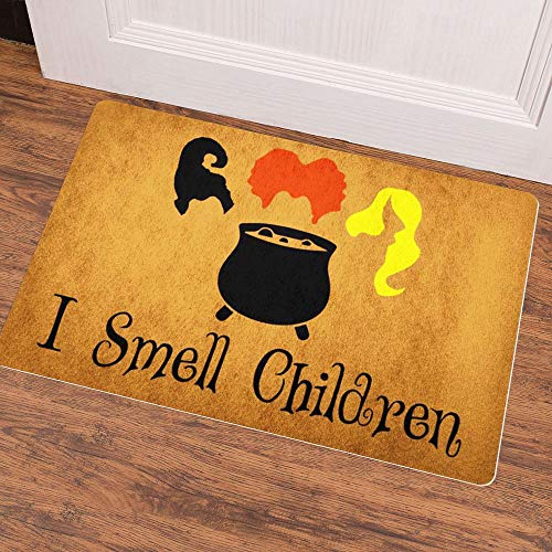 Ruiyida Doormat Custom Home Living Decor Housewares Rugs and Mats State Indoor Gift Ideas 23.6 by 15.7 Inch Machine Washable Fabric Top I Smell Children