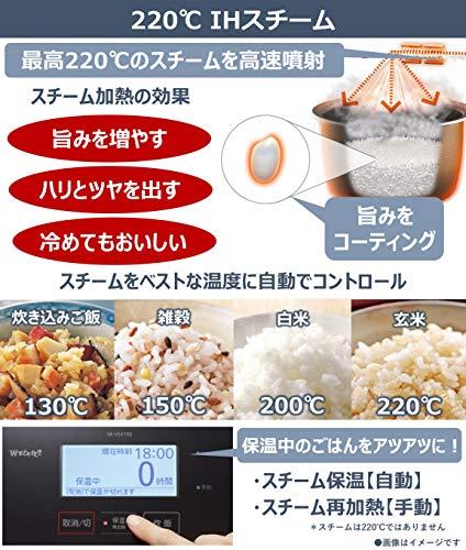 パナソニック炊飯器5.5合プレミアムシリーズ米どころ推奨モデルWおどり炊きスチーム&可変圧力IH式銘柄炊き分けタッチパネル液晶ブラックSR-VSX100-K