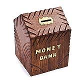 Hölzerne Spardose für Münzen sparen Aufbewahrungsbox, dekorative Spardose, handgemachte Spardose, hölzerne Sparschwein, Spardose für Kinder/Erwachsene (Hut geformt)