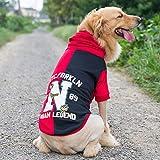 QNMM Ropa para Perros Grandes Sudaderas con Capucha para Perros Grandes Abrigos para Perros Grandes Suéteres para Perros medianos a Grandes,Rojo,2XL