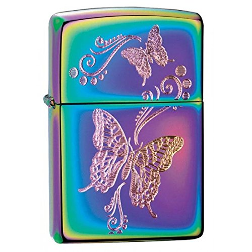 Gifts Infinity Personalized Engraved Butterflies - Spectrum Zippo Lighter - Free Engraving