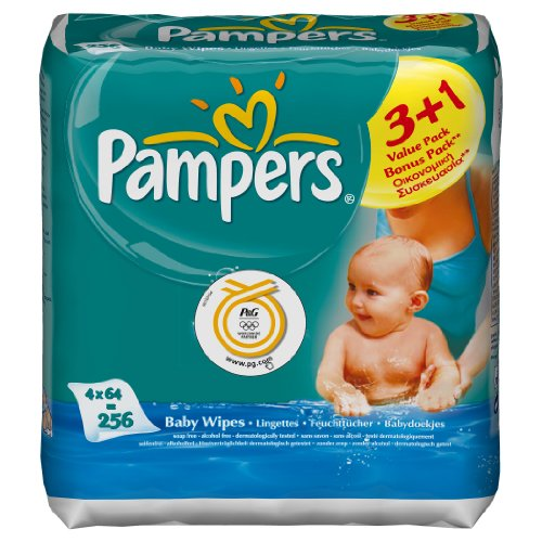 Pampers 81260746 Baby Fresh - Toallitas (4 x 64 unidades)