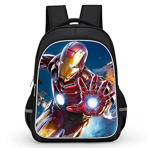 PRETAY Zaino Estensibile The Avengers Marvel Scuola Borsa Tempo Libero Super Hero 3D Zaini Scuola Elementare Campeggio Escursionismo Zaini Scuola Elementare (Color : A, Size : 39CM)
