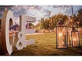 Letras decorativas para boda de 200cm de alto